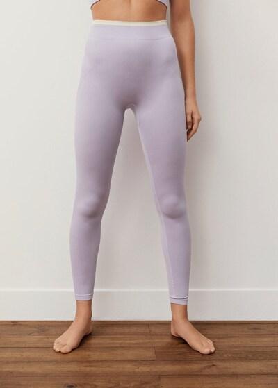 MANGO Leggings 'Kevin' in pastelllila, Modelansicht
