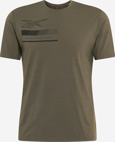 REEBOK Functioneel shirt in de kleur Olijfgroen / Zwart, Productweergave