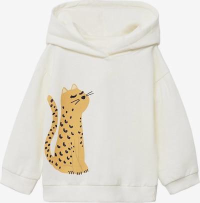 MANGO KIDS Sweatshirt 'MAYRA' in de kleur Sinaasappel / Zwart / Offwhite, Productweergave
