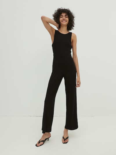 EDITED Combinaison 'Remi' en noir, Vue avec modèle