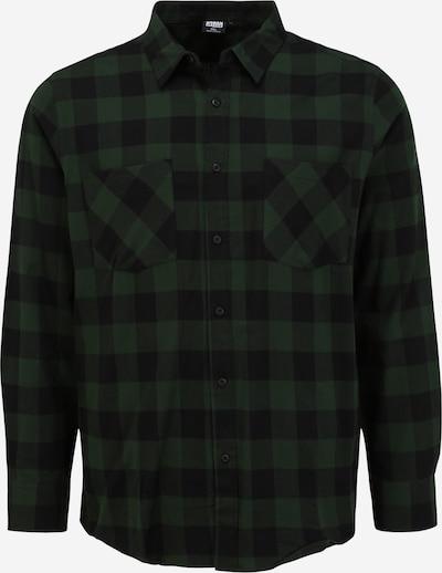 Urban Classics Big & Tall Chemise en vert foncé / noir, Vue avec produit