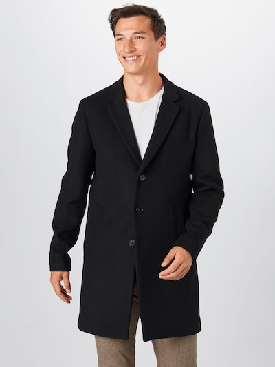 JACK & JONES Between-seasons coat in black, View model