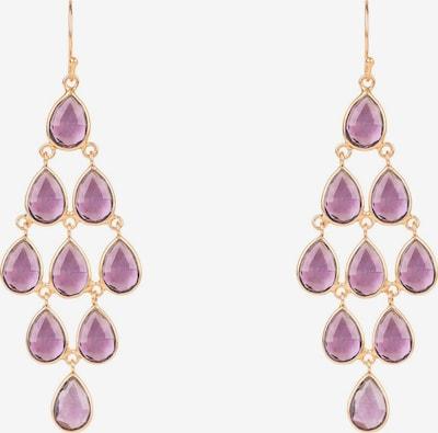 Latelita Boucles d'oreilles en or rose / violet, Vue avec produit