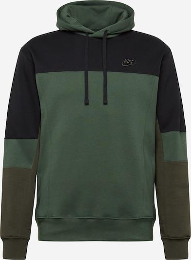 Megztinis be užsegimo iš Nike Sportswear , spalva - žalia / alyvuogių spalva / juoda, Prekių apžvalga