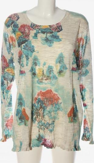Himmelblau by Lola Paltinger Rundhalspullover in 4XL in blau / rot / wollweiß, Produktansicht