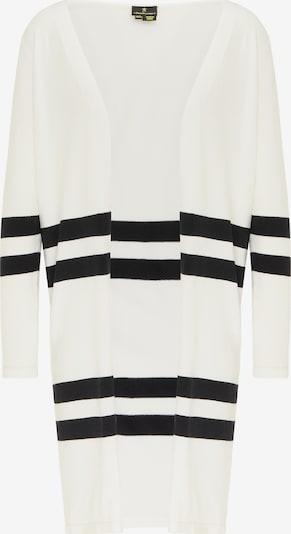 DreiMaster Klassik Strickjacke in schwarz / weiß, Produktansicht