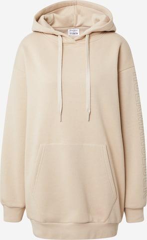 Hoermanseder x About You Sweatshirt 'Maxi' in Beige