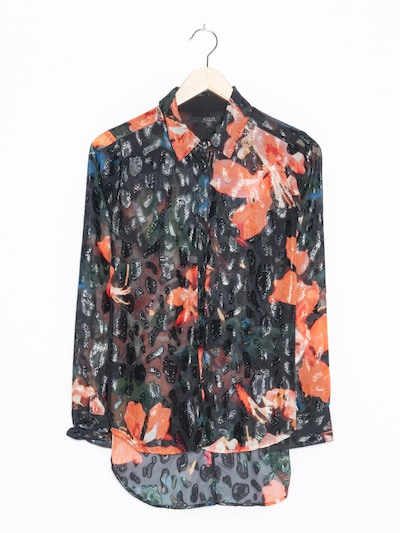 GUESS Blumenbluse in S-M in transparent, Produktansicht