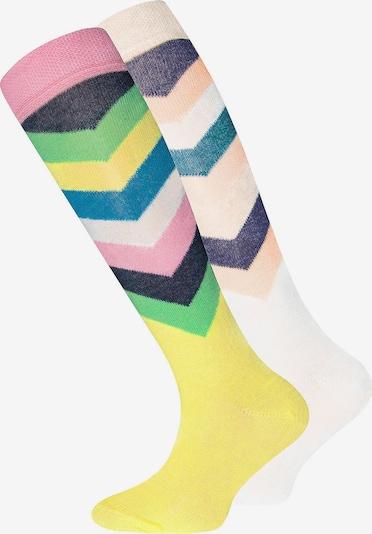 EWERS Socken in gelb / grün / rosa / weiß, Produktansicht