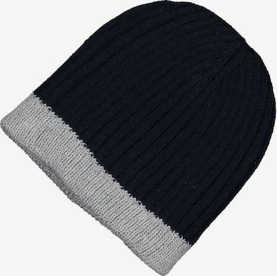 BLUE SEVEN Mütze in dunkelblau / hellgrau, Produktansicht