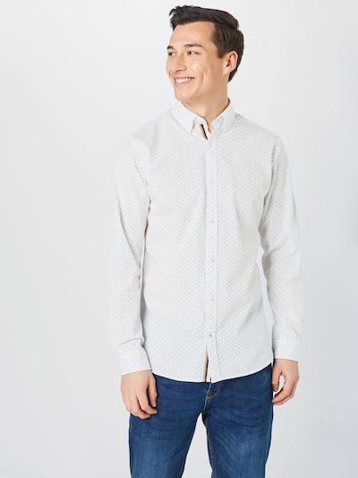 JACK & JONES Hemd 'Thomas' in rauchblau / weiß: Frontalansicht