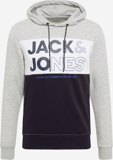 JACK & JONES Sweatshirt 'ARID' in navy / light grey / white, Item view