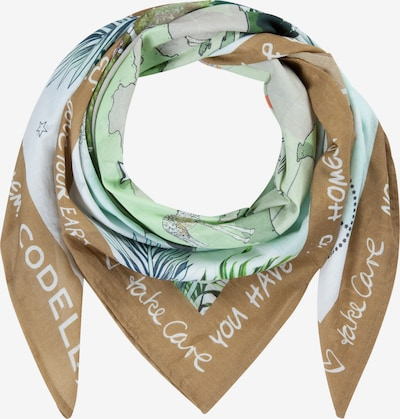 CODELLO Wrap 'Love Your Planet' in Light brown / Light grey / Olive / Petrol / Mint / White, Item view