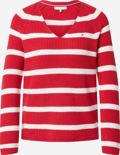 Megztinis 'HAYANA' iš TOMMY HILFIGER , spalva - nebalintos drobės spalva / raudona, Prekių apžvalga