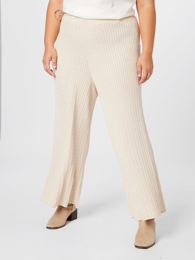 Guido Maria Kretschmer Curvy Collection Pants 'Valeria' in Cream, View model