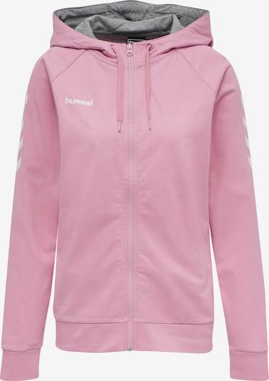 Hummel Sweatjacke in rosa / weiß, Produktansicht