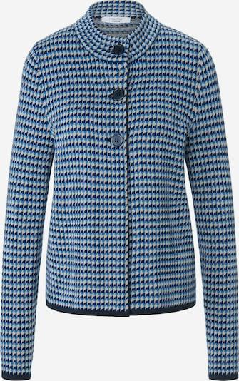 mayfair BY PETER HAHN Strickjacke in beige / blau / navy, Produktansicht