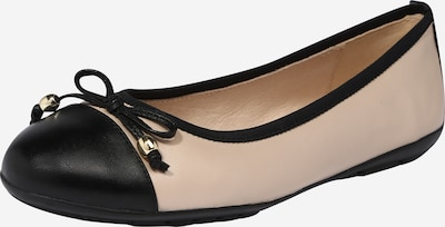 CAPRICE Ballerinasko i beige / sort, Produktvisning