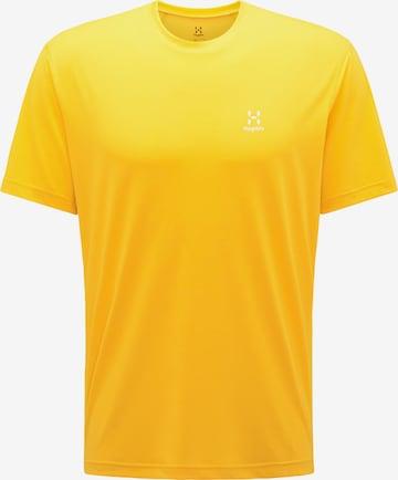 T-Shirt fonctionnel 'Ridge' Haglöfs en jaune