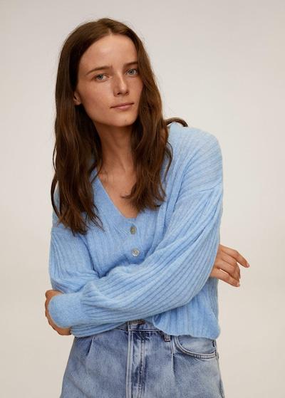 MANGO Strickjacke in pastellblau, Modelansicht