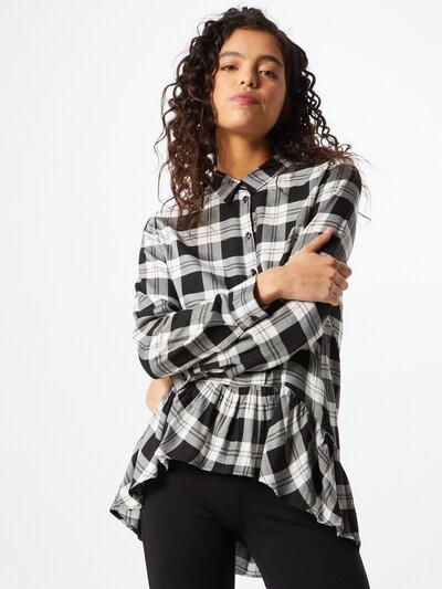 JDY Bluse 'STAY' in schwarz / weiß, Modelansicht
