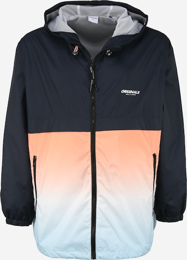 Jack & Jones Plus Přechodná bunda - námořnická modř / světlemodrá / jasně oranžová, Produkt