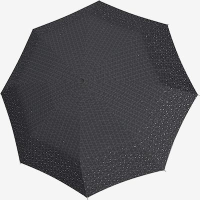 KNIRPS Regenschirm 'T.200' in dunkelgrau / weiß, Produktansicht