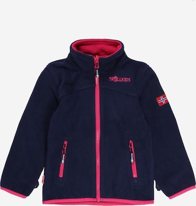 TROLLKIDS Functionele fleece jas 'Oppdal' in de kleur Navy / Magenta, Productweergave