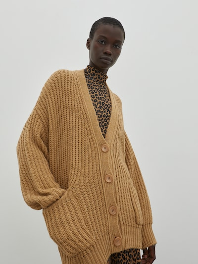 EDITED Cardigan 'Rana' in beige, Modelansicht