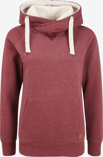 Oxmo Hoodie 'Julia Pile' in rot / bordeaux, Produktansicht