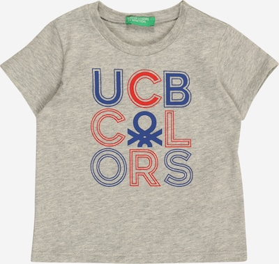 UNITED COLORS OF BENETTON Shirt in blau / graumeliert / rot, Produktansicht