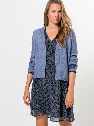 zero Strickjacke in blaumeliert, Modelansicht