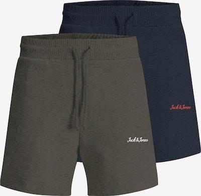 JACK & JONES Broek 'Winks' in de kleur Navy / Donkergroen / Rood / Wit, Productweergave