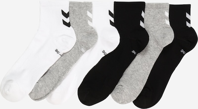 Hummel Sports socks in mottled grey / Black / White, Item view