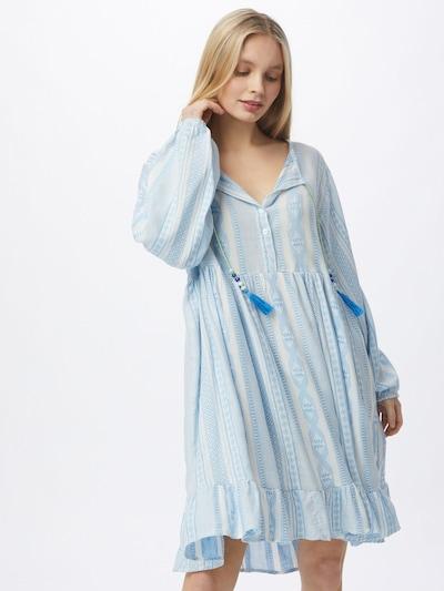 Zwillingsherz Košilové šaty 'Nala' - světle hnědá / bílá, Model/ka