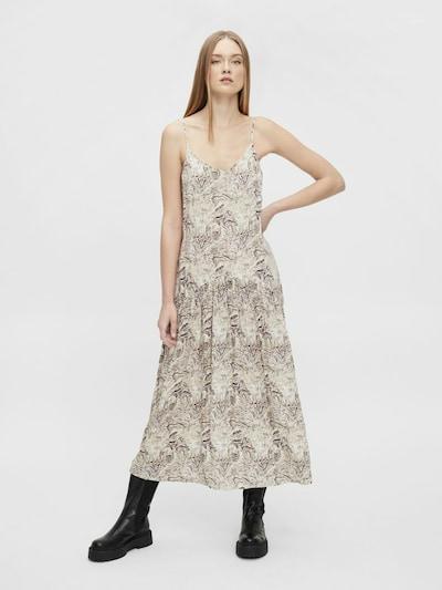 OBJECT Kleid 'Kinna' in braun / grau, Modelansicht