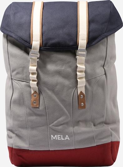 MELAWEAR Reppu värissä beige / sininen / savunharmaa / tummanpunainen, Tuotenäkymä