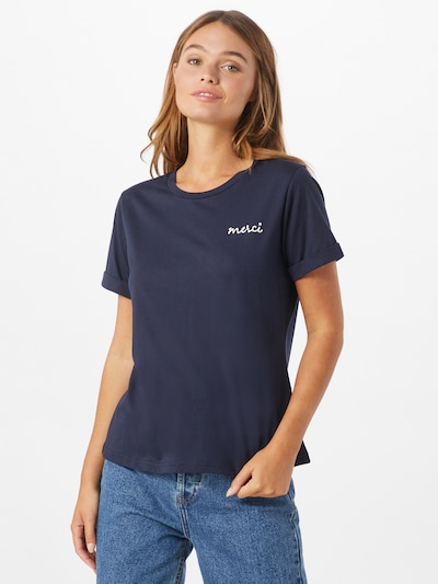 Grace & Mila T-shirt 'BILLY' en bleu marine / blanc: Vue de face