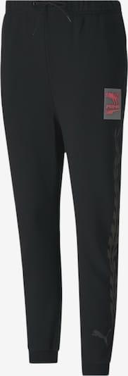 PUMA Hose in grau / feuerrot / schwarz, Produktansicht