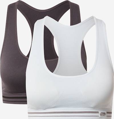 Marika Sportski grudnjak 'KELLY' u tamo siva / bijela, Pregled proizvoda