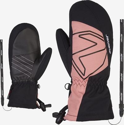 ZIENER Skihandschuhe 'LARILO AS(R)' in rosé / schwarz, Produktansicht