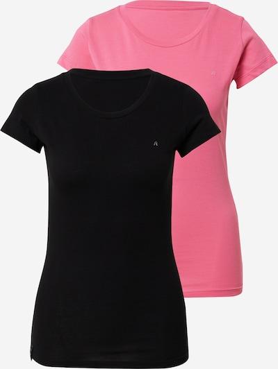 REPLAY T-Shirt in pink / schwarz, Produktansicht