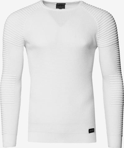 Rusty Neal Figurbetonter Feinstrick Pullover in weiß, Produktansicht