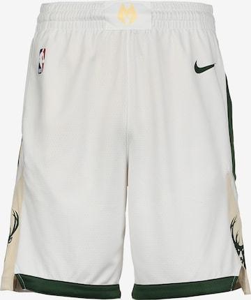 Pantalon de sport 'NBA Milwaukee Bucks' NIKE en blanc