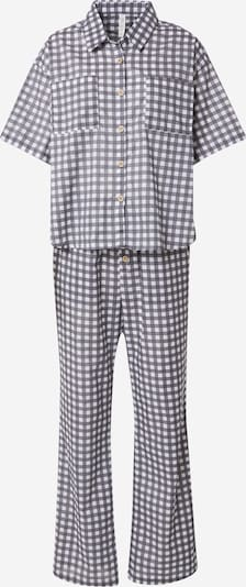 Cotton On Body Pyjama en noir chiné / blanc, Vue avec produit