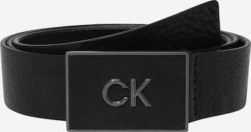Calvin Klein Belt 'Plaque' in Black