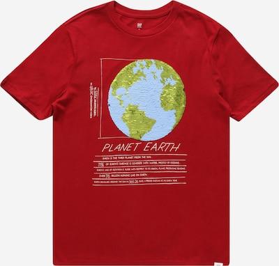 GAP Shirt 'JULY' in de kleur Lichtblauw / Lichtgroen / Rood / Wit, Productweergave