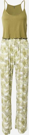 ONLY Pyjama 'Karla' en olive / blanc, Vue avec produit