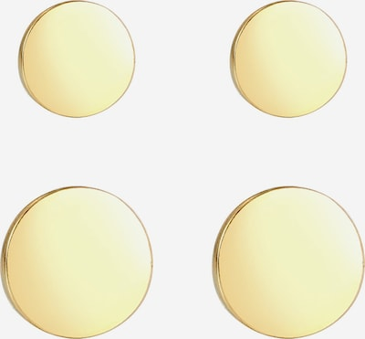ELLI Ohrringe Geo, Kreis in gold, Produktansicht