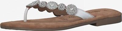 TAMARIS T-bar sandals in Silver / White, Item view